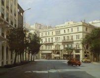 Calles de Atenas, Grecia, pinturas hechas a mano Fotografía de archivo