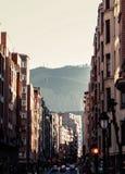 Calles de Bilbao foto de archivo