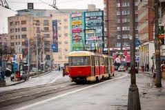 Calles de Bratislava, Eslovaquia Foto de archivo libre de regalías