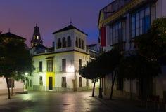 Calles de Córdoba vieja en madrugada Fotografía de archivo libre de regalías