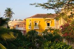 Calles de Cartagena, Colombia fotografía de archivo