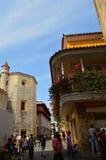 Calles de Cartagena, Colombia Imagenes de archivo