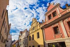 Calles de Cesky Krumlov, República Checa imagen de archivo