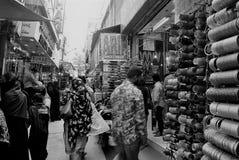 Calles de Charminar, Hyderabad Imagenes de archivo