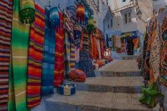 Calles de Chefchaouen Imagenes de archivo