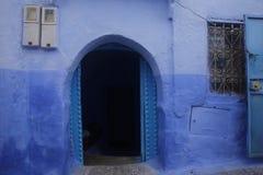 Calles de Chefchaouen Marruecos Imagen de archivo libre de regalías