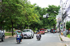 Calles de Chiang Mai Foto de archivo libre de regalías