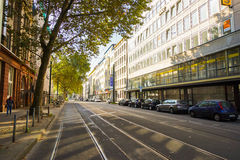Calles de Düsseldorf Foto de archivo libre de regalías