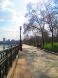 Calles de Donetsk, Ucrania el los días de fiesta de Pascua Foto de archivo