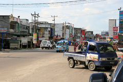 Calles de Duri Indonesia fotos de archivo