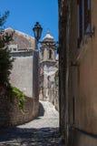 Calles de Erice Foto de archivo libre de regalías