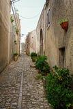 Calles de Erice Fotos de archivo
