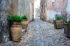 Calles de Erice Fotografía de archivo