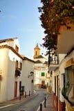 Calles de Estepona fotos de archivo