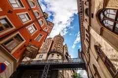 Calles de Estocolmo imagen de archivo