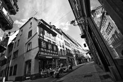 Calles de Estrasburgo Fotos de archivo libres de regalías