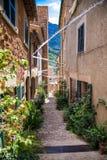 Calles de Fornalutx foto de archivo