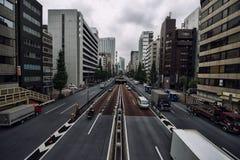 Calles de Ginza Imagenes de archivo