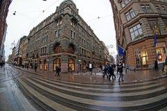 Calles de Helsinki, Finlandia imágenes de archivo libres de regalías