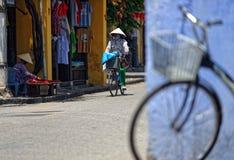 Calles de Hoi An foto de archivo libre de regalías