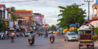 Calles de Koh Kong imagenes de archivo