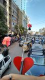 Calles de la ciudad Fotos de archivo libres de regalías