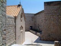 Calles de la ciudad de Dubrovnik foto de archivo
