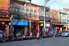 Calles de la ciudad de Phuket fotografía de archivo