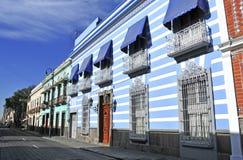 Calles de la ciudad de Puebla, México Foto de archivo
