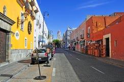 Calles de la ciudad de Puebla, México Fotografía de archivo