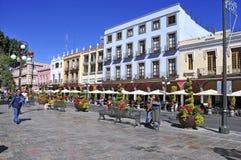 Calles de la ciudad de Puebla, México Imagen de archivo libre de regalías