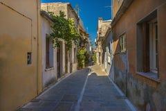 Calles de la ciudad de Rethymno Fotos de archivo libres de regalías
