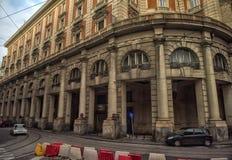 Calles de la ciudad en el centro de ciudad Fotografía de archivo