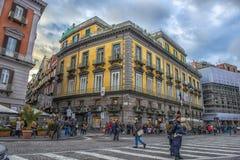 Calles de la ciudad en el centro de ciudad Foto de archivo libre de regalías