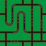 Calles de la ciudad inconsútiles stock de ilustración