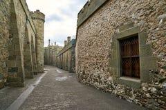 Calles de la ciudad medieval Fotografía de archivo
