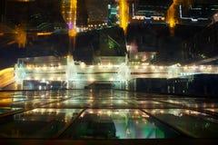 Calles de la noche de Chicago foto de archivo libre de regalías