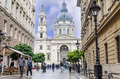 Calles de la parte central de Budapest, Hungría Fotografía de archivo