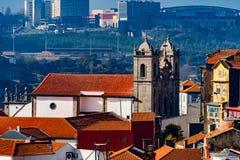 Calles de las opiniones de Oporto fotos de archivo libres de regalías