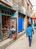 Calles de Leh Fotografía de archivo