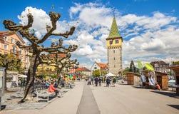 Calles de Lindau, Baviera, Alemania Imagenes de archivo
