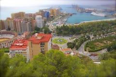 Calles de Málaga, España imágenes de archivo libres de regalías