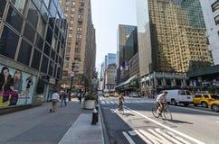 Calles de Manhattan Imagen de archivo libre de regalías