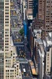 Calles de Manhattan, New York City Imagen de archivo libre de regalías