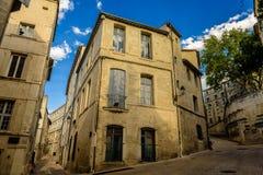Calles de Montpellier, Francia Imagenes de archivo