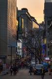 Calles de Myeong-Dong foto de archivo libre de regalías