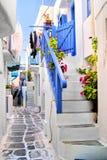 Calles de Mykonos Fotografía de archivo libre de regalías