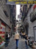 Calles de Nápoles fotografía de archivo