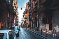 Calles de Napoli fotografía de archivo