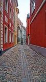 Calles de noviembre Riga fotografía de archivo libre de regalías